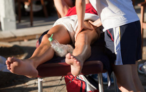 massage at a sports event or race