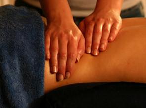 hands giving swedish massage