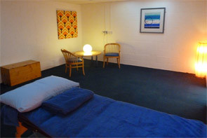Muscle Clinic Remedial Massage Table and Consultation area