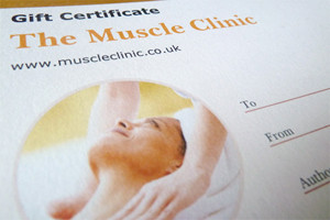 The Muscle Clinic Massage Gift Voucher