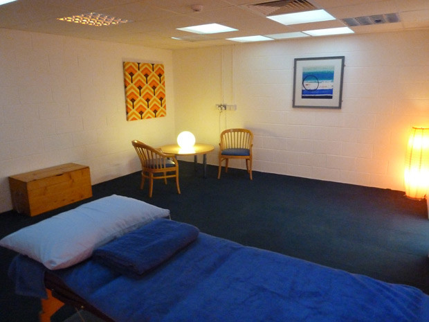 Muscle Clinic Massage Couch and Consultation Area