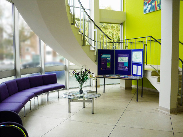 Muscle Clinic Reception at Millfields Trust HQ
