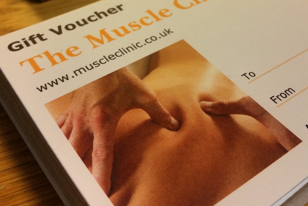 Muscle Clinic massage gift voucher